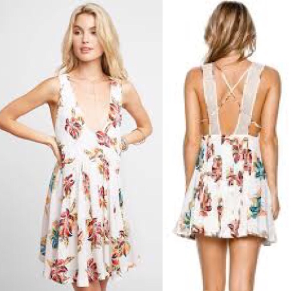 199b9a7df73c nwt free people white floral dress large •